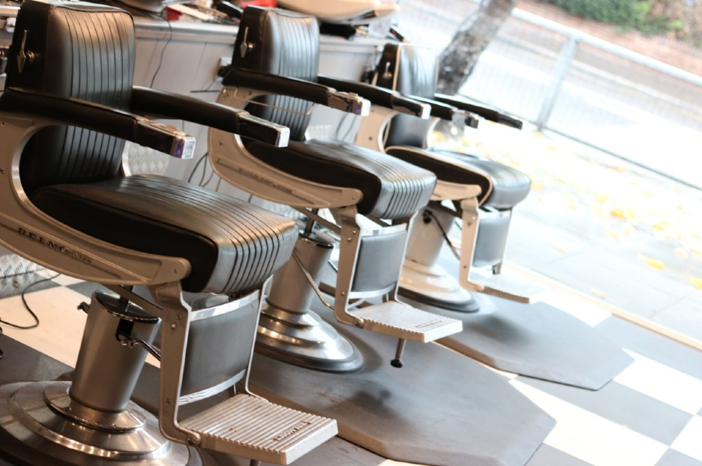 Belmont barber chairs at Wilsons barber shop Romford