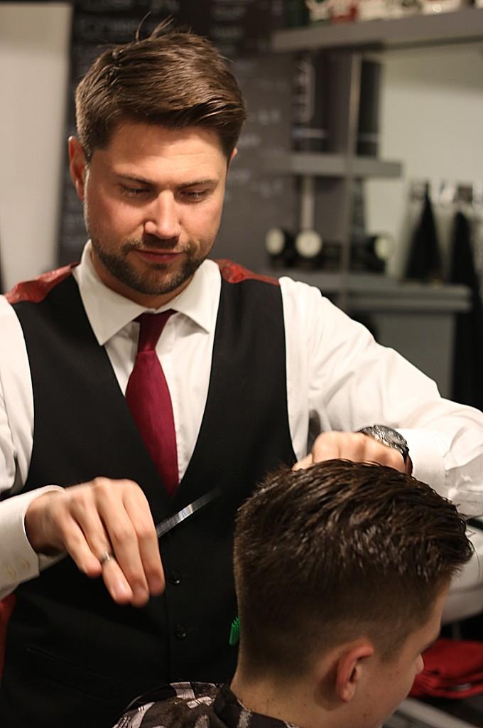 Ben Wilsons of Wilsons styling hair