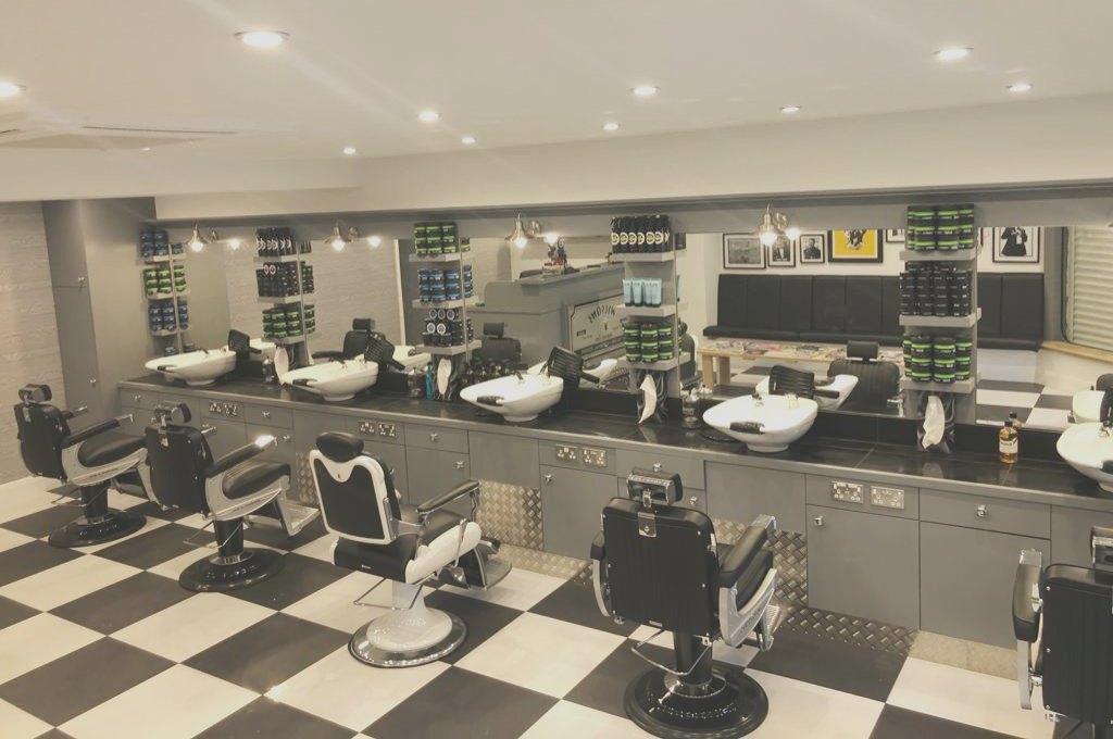 Interior of Wilsons Barber Shop Billericay