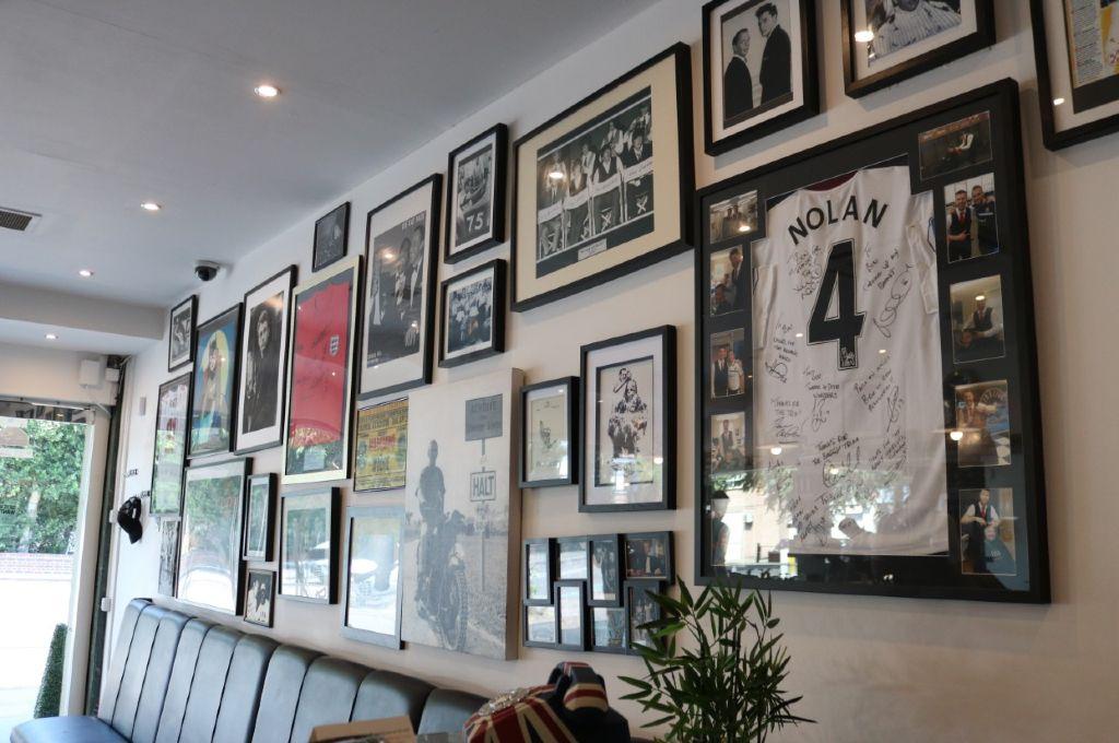 Interior of Wilsons Barber Shop Romford