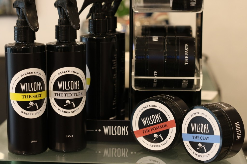 Wilsons barber shop hair styling products